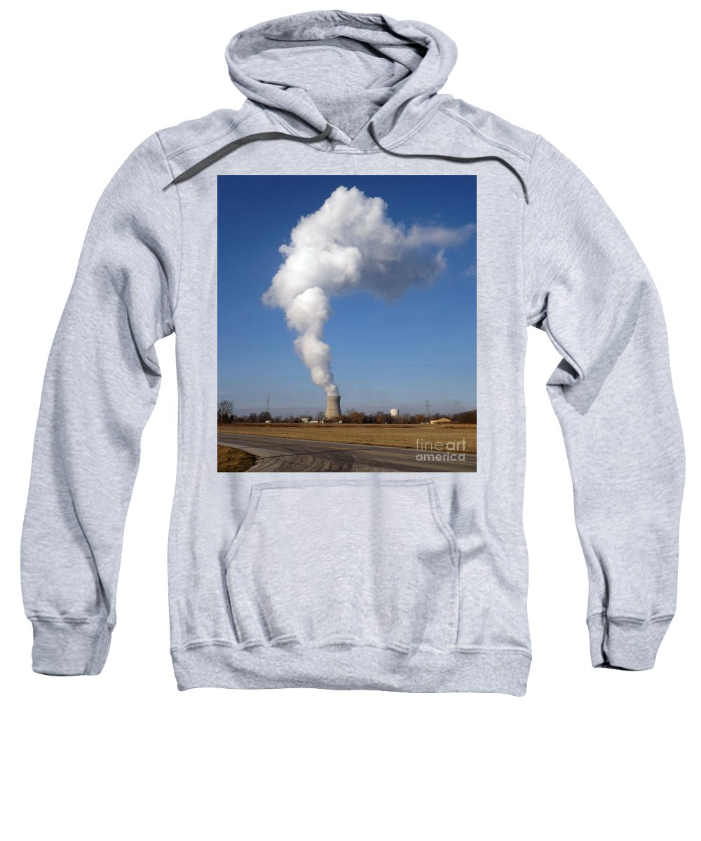 Emerging Sweatshirt featuring the photograph Davis Besse Nuclear Power Plant by Sara Raber