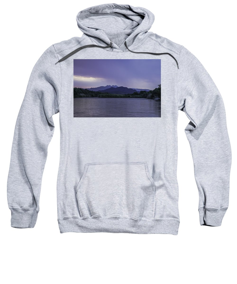 Clouds Sweatshirt featuring the photograph Dawn With Rain by Lorraine Harrington