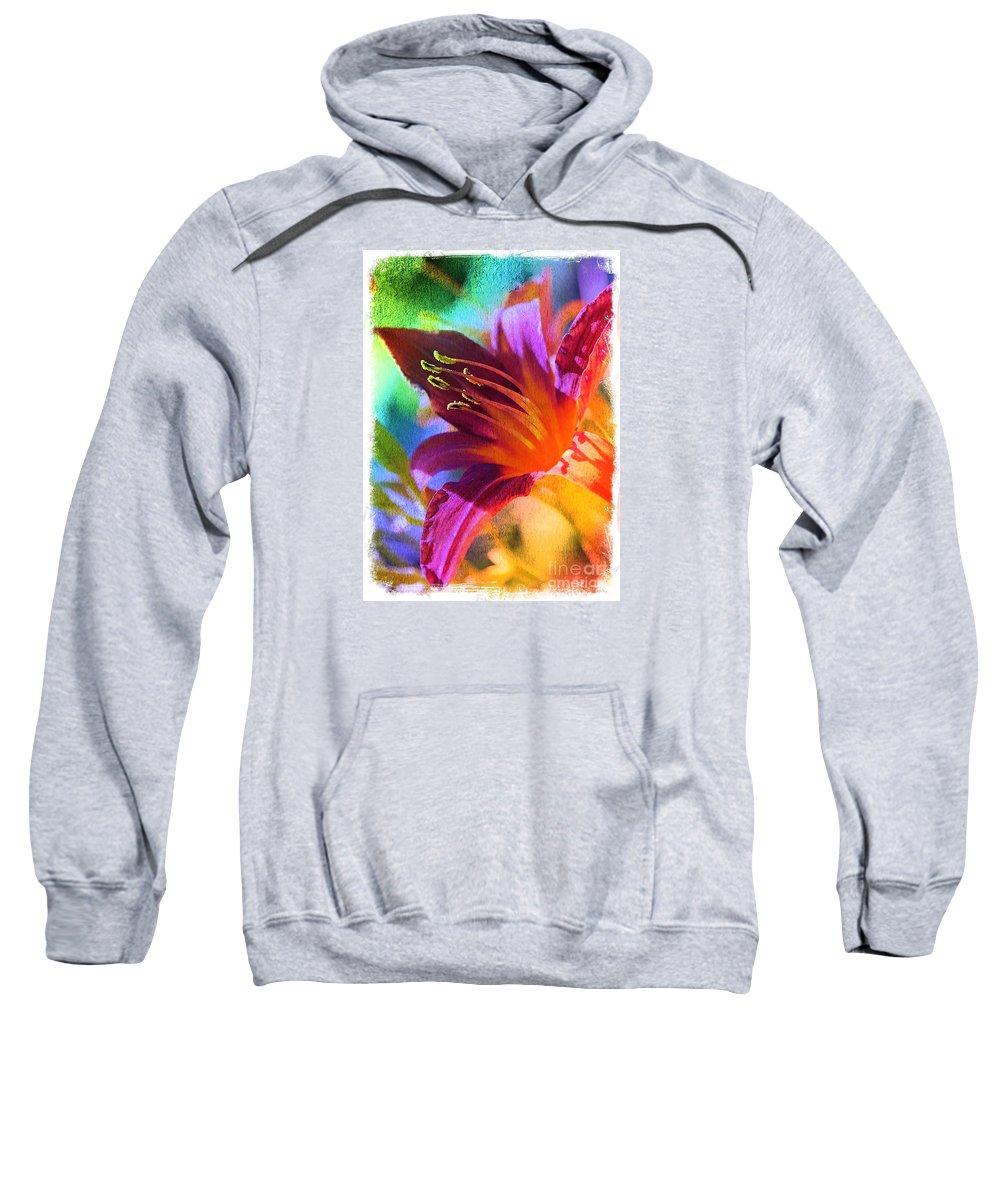 Digital Art Sweatshirt featuring the photograph Daylily Delight by Carol Groenen