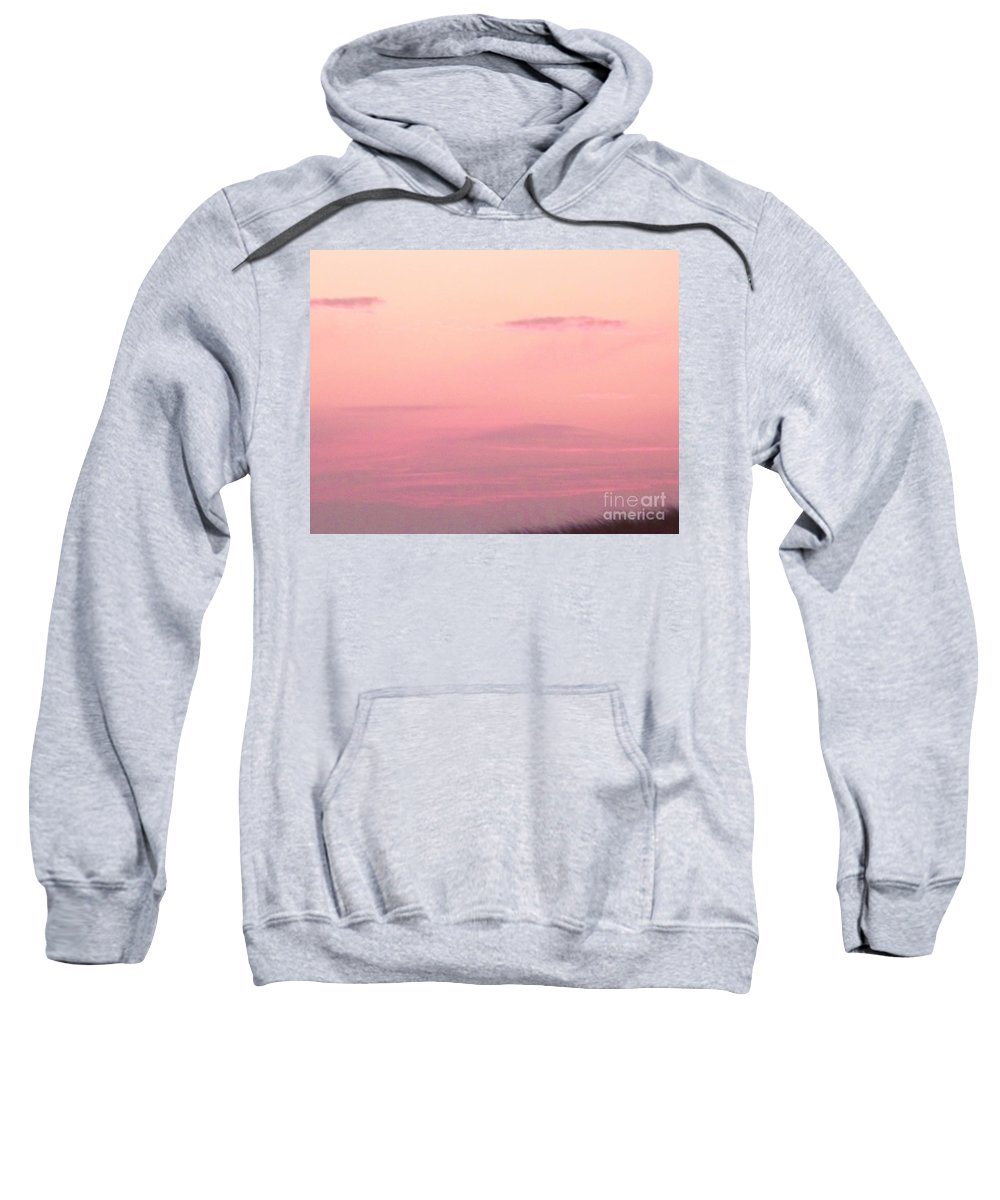 Sky Sweatshirt featuring the photograph Days End Sky At Cape May Nj by Eric Schiabor