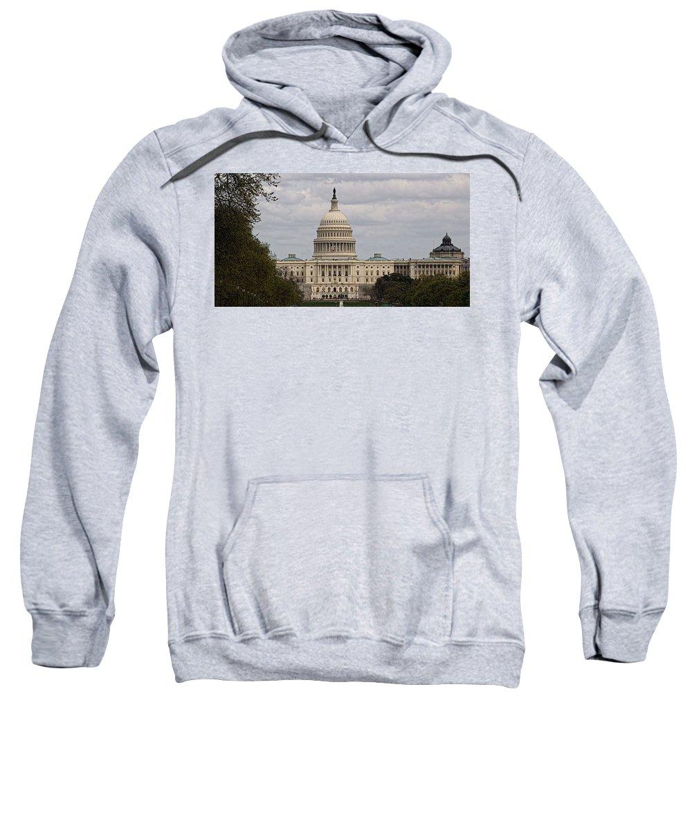 Washington Sweatshirt featuring the photograph Dc Capitol Building by Jennifer Wheatley Wolf
