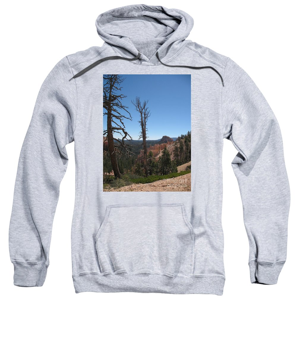Bryce Canyon Sweatshirt featuring the photograph Dead Trees At Bryce Canyon by Christiane Schulze Art And Photography