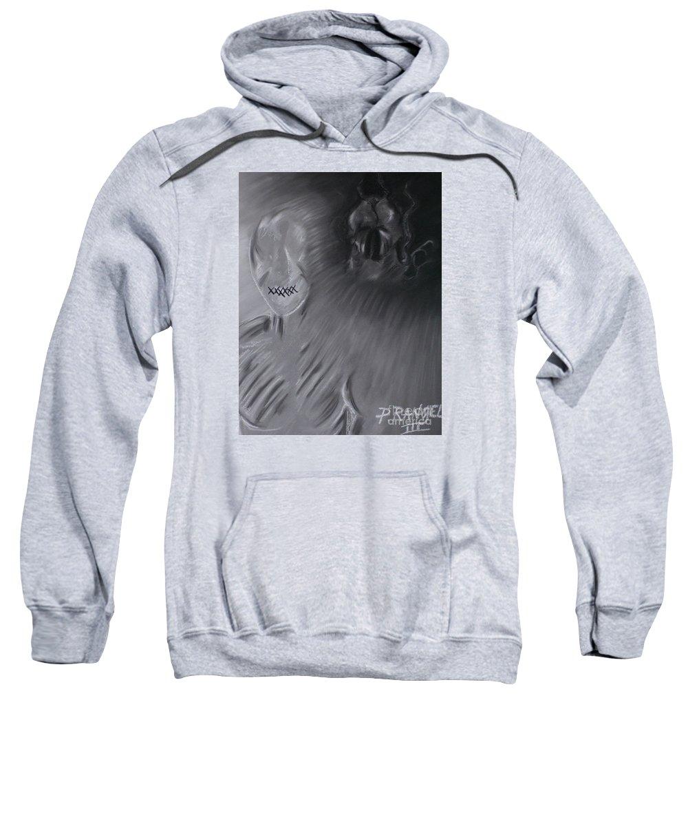 Symbolism Sweatshirt featuring the pastel Death A Coward by Phillip Rangel