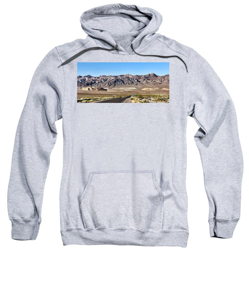 Death Valley National Park Sweatshirt featuring the photograph Death Valley Highway by Jack Schultz
