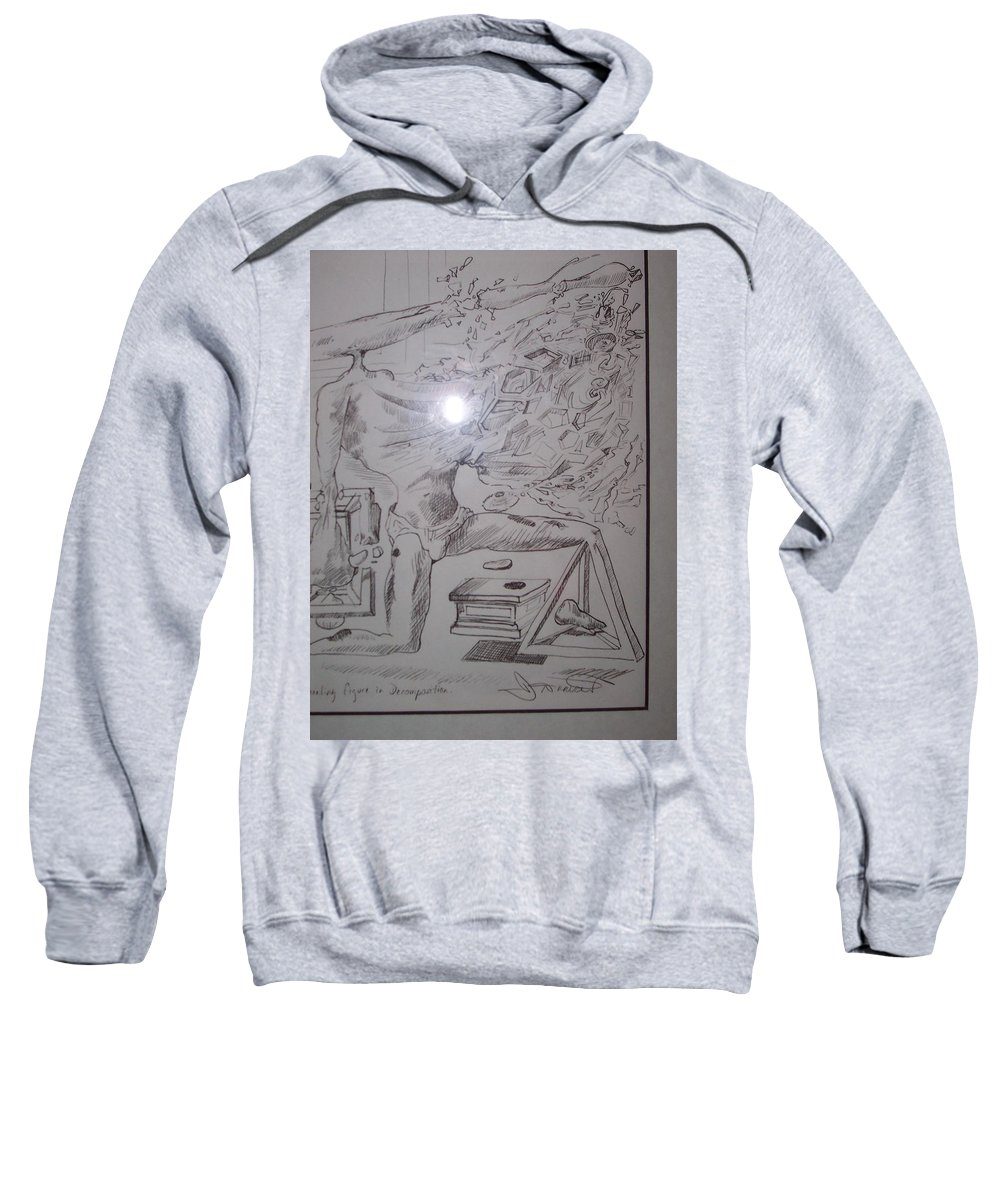 Sweatshirt featuring the painting Decomposition Of Kneeling Man by Jude Darrien