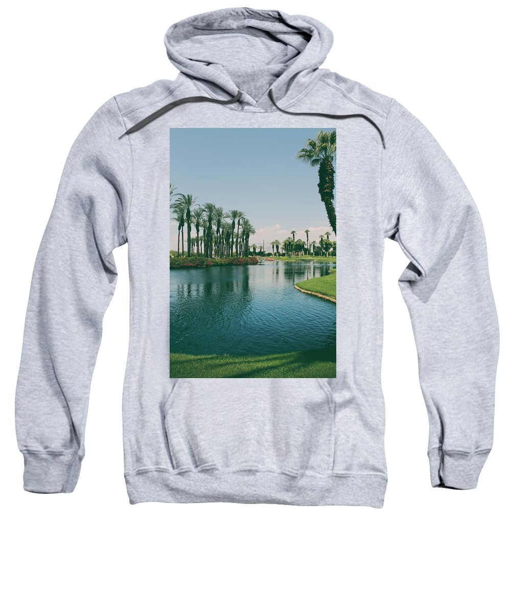 Palm Desert Sweatshirt featuring the photograph Deep Breath And Sigh by Laurie Search