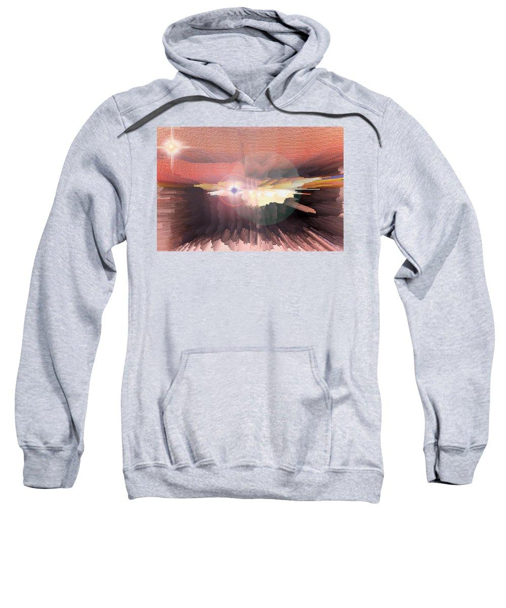 Augusta Stylianou Sweatshirt featuring the digital art Deep Space Fantasy by Augusta Stylianou