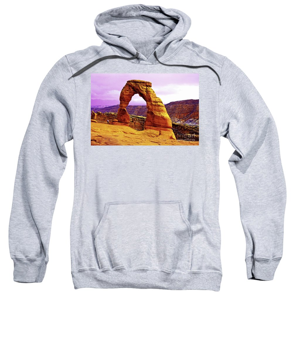 Utah Sweatshirt featuring the photograph Delicate Arch - Arches National Park by Aidan Moran