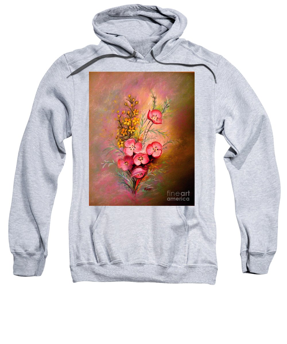 Floral Bouquet Sweatshirt featuring the painting Delicate Beauty Of Spring by Hazel Holland