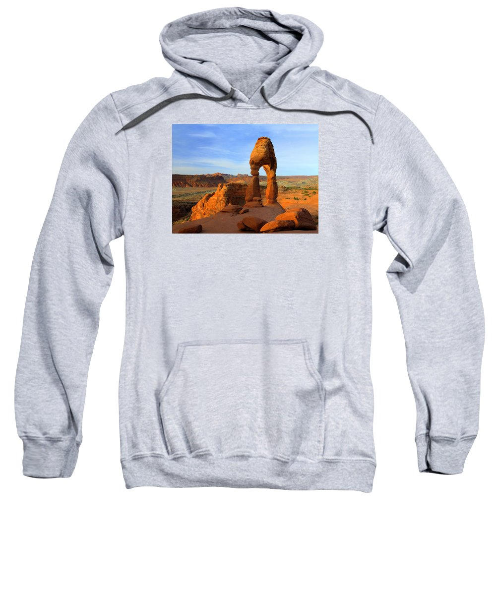 Utah Sweatshirt featuring the photograph Delicate Morning by Dustin LeFevre