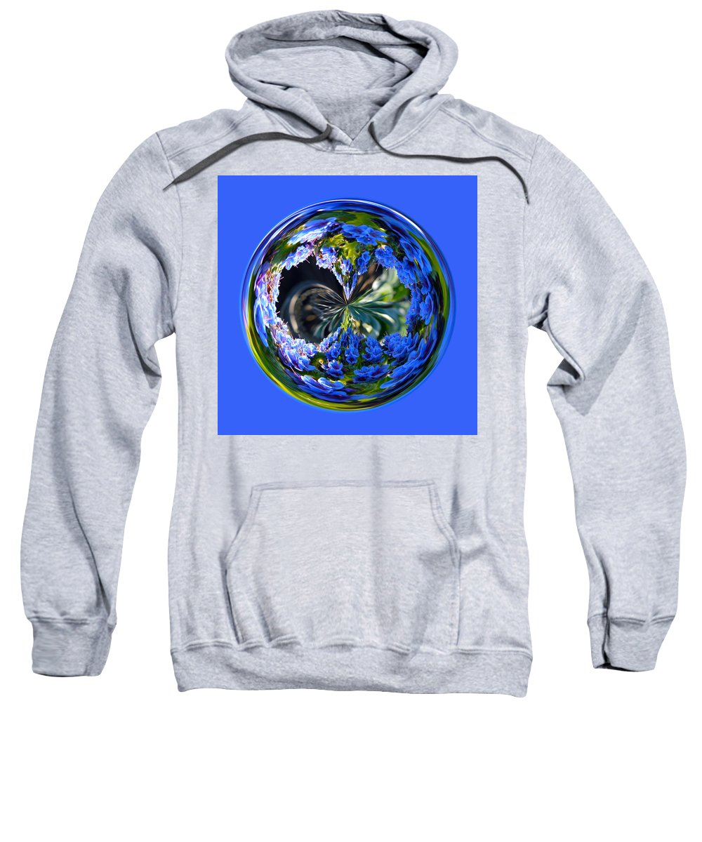 Orb Sweatshirt featuring the photograph Delicate Orb by Brent Dolliver