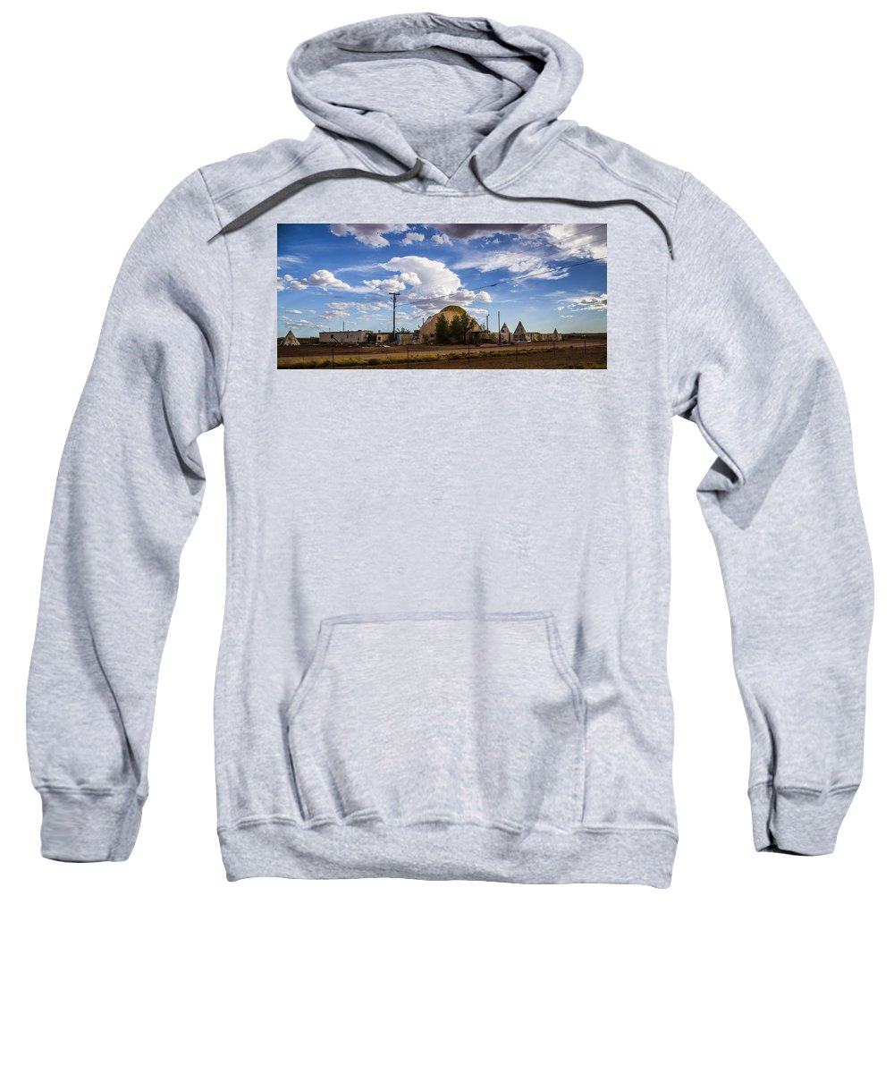 Route 66 Sweatshirt featuring the photograph Desert Dome by Angus Hooper Iii