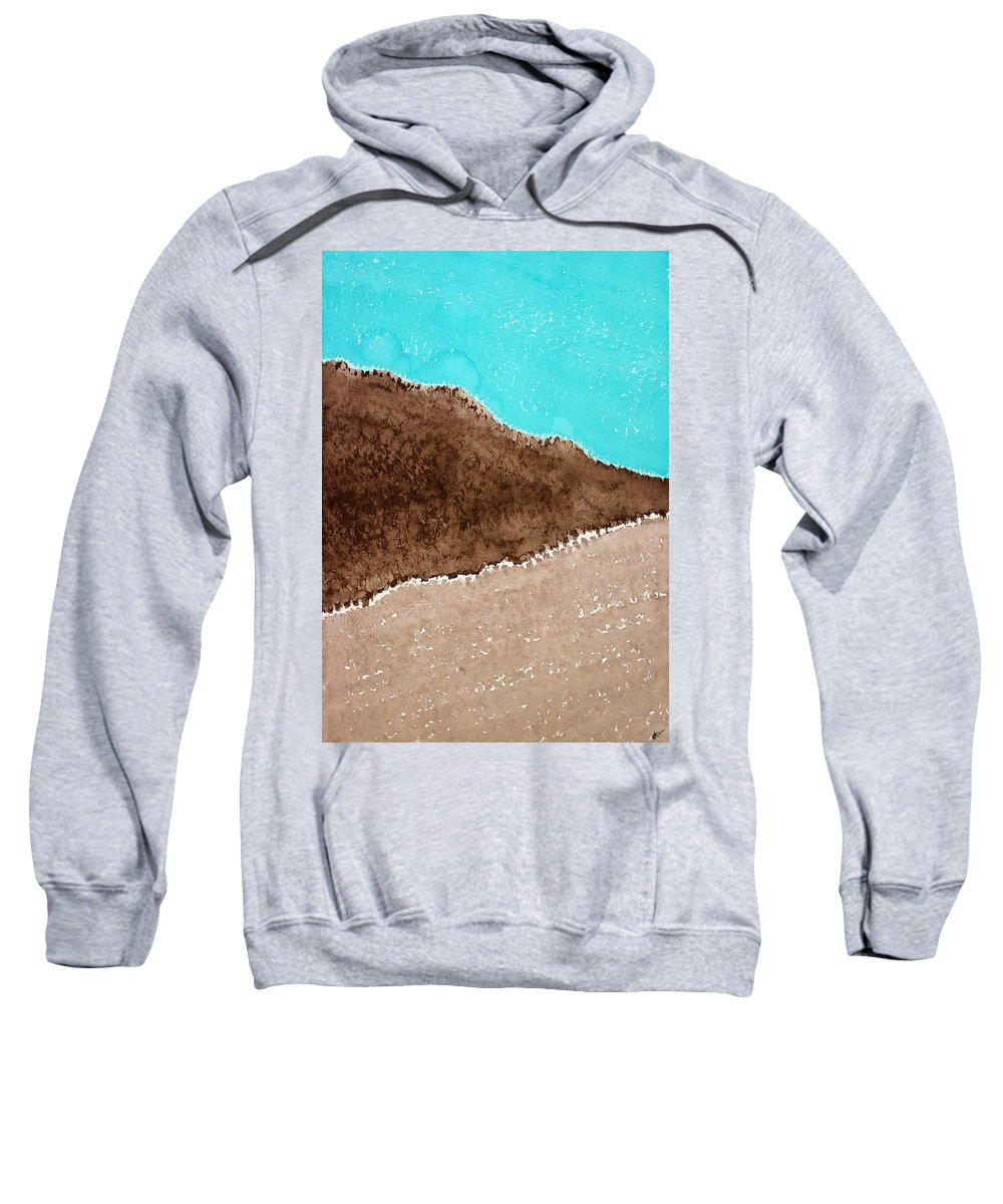 Desert Sweatshirt featuring the painting Desert Mountains Original Painting by Sol Luckman