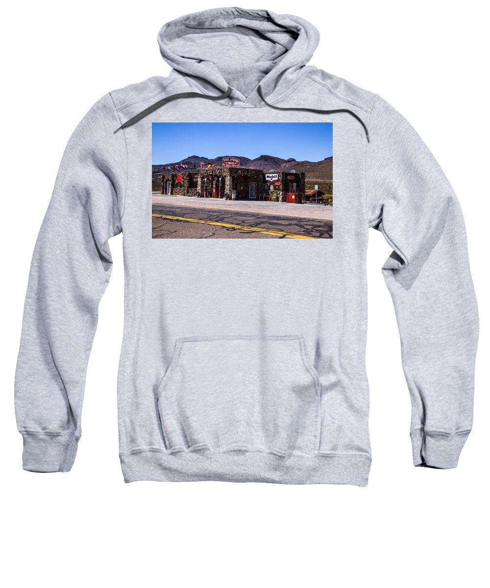 Route 66 Sweatshirt featuring the photograph Desert Station by Angus Hooper Iii