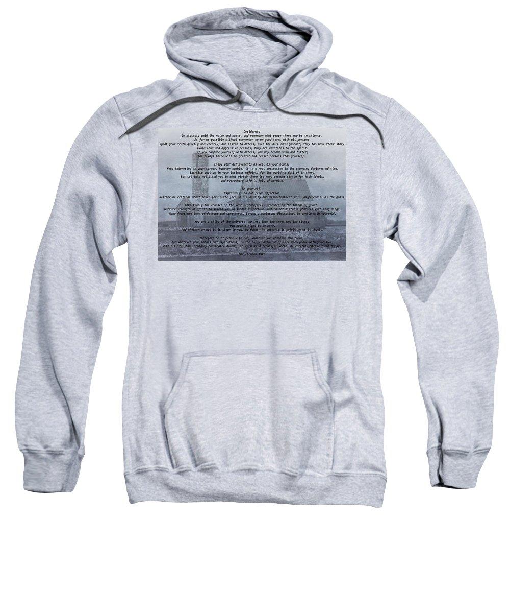 Desiderata Farm Sweatshirt featuring the digital art Desiderata Farm by Dan Sproul