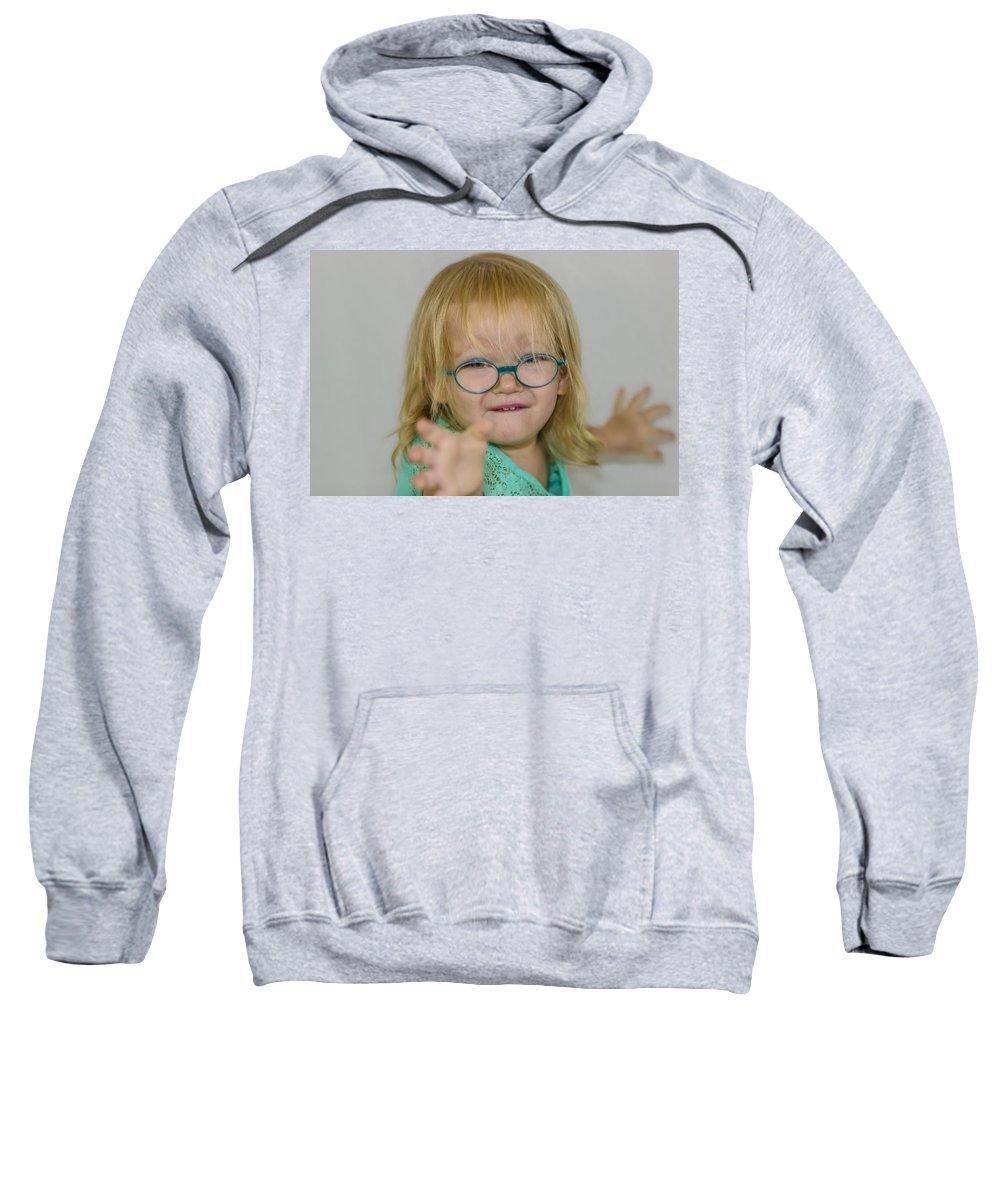 Children Sweatshirt featuring the photograph Determination by Stephen Brown