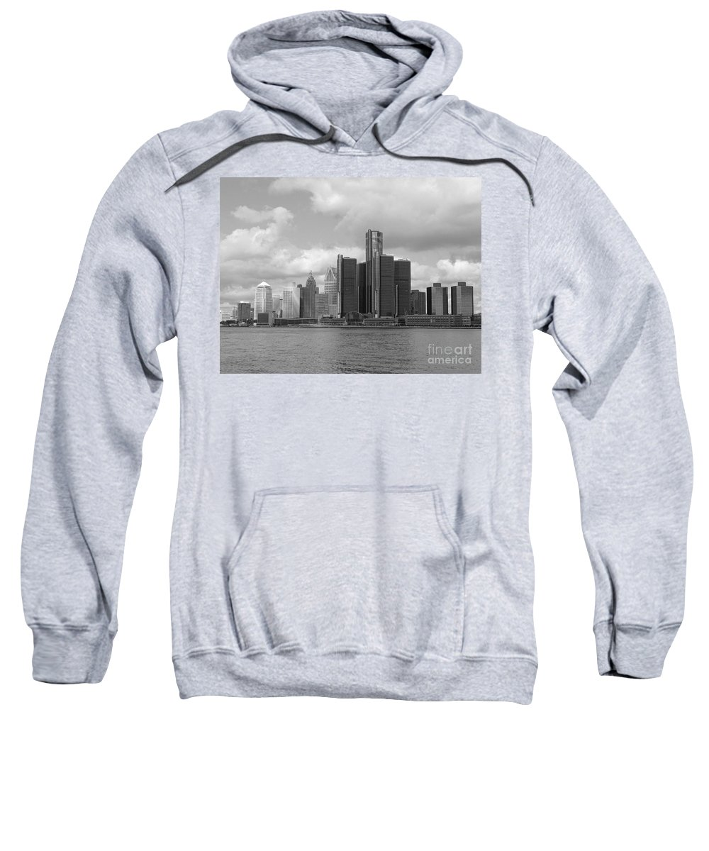 Detroit Sweatshirt featuring the photograph Detroit Skyscape by Ann Horn