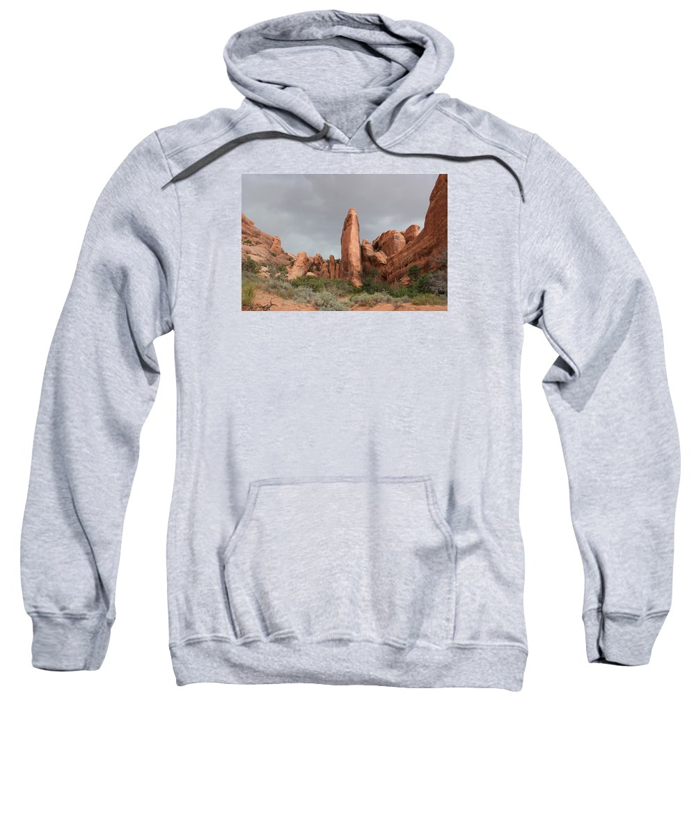 Rocks Sweatshirt featuring the photograph Devils Garden Arches Np by Christiane Schulze Art And Photography