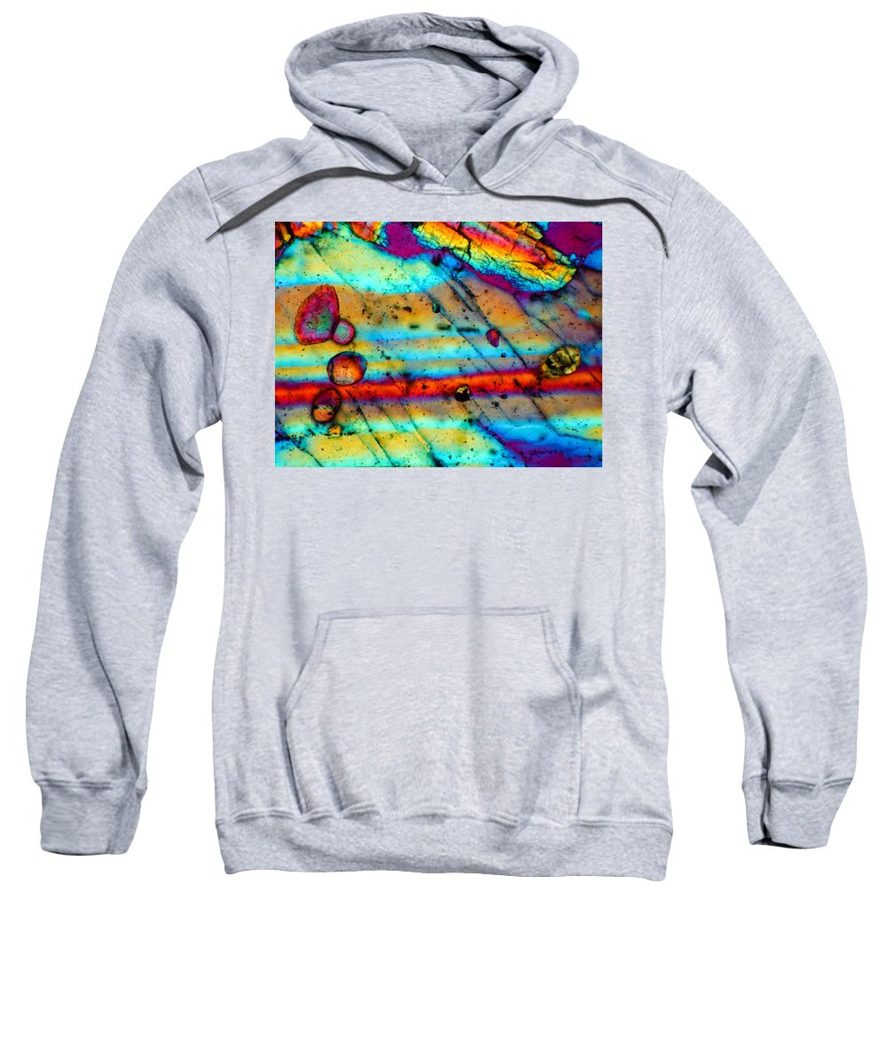 Dho 007 Sweatshirt featuring the photograph Dho 007 Eucrite 160x by Tom Phillips