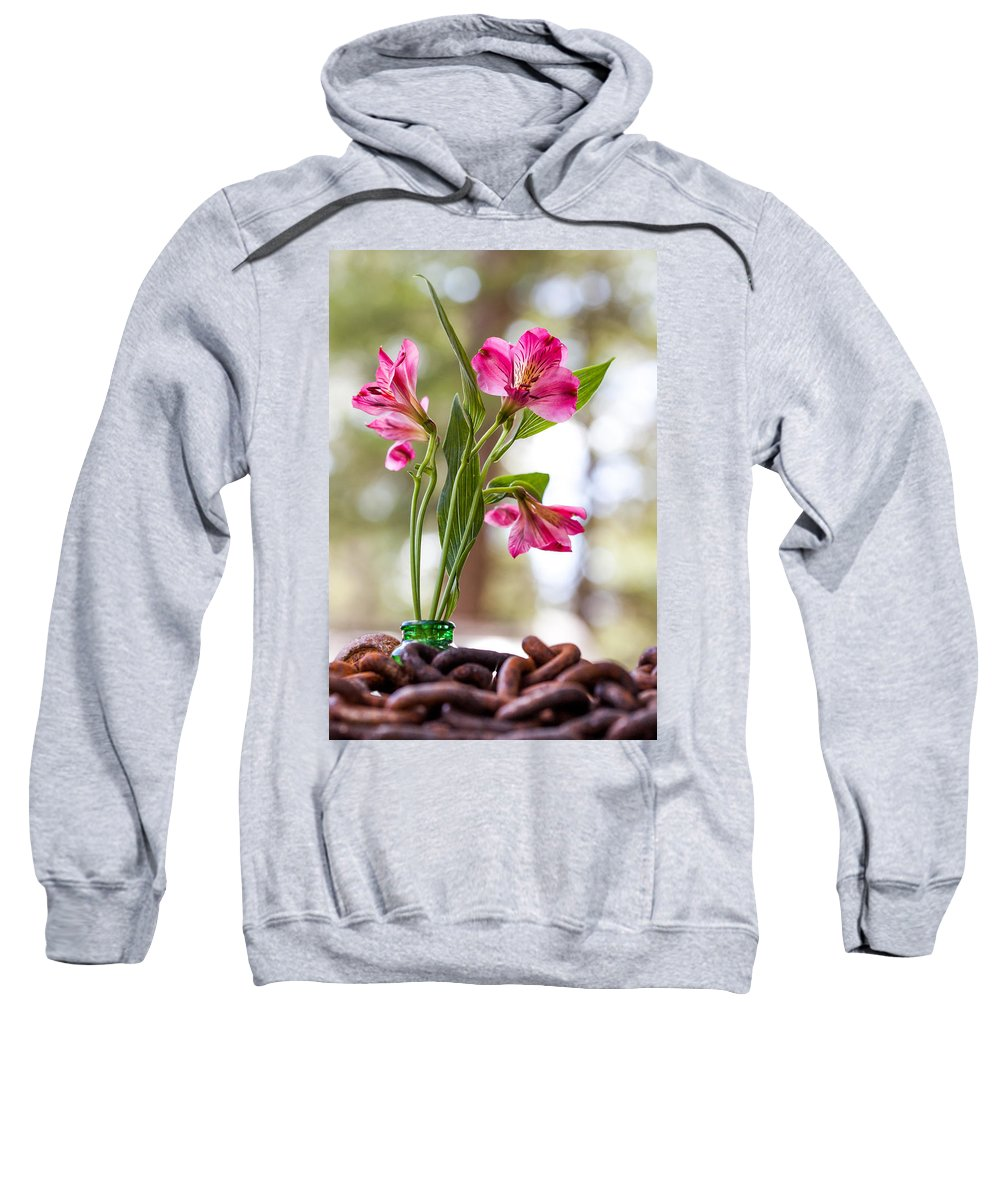 Flower Sweatshirt featuring the photograph Diamond In The Rough by Aaron Aldrich