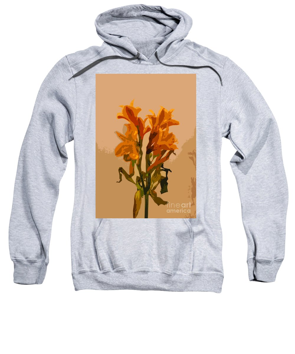 Flower Sweatshirt featuring the photograph Digital Painting Lily Like by Minding My Visions by Adri and Ray