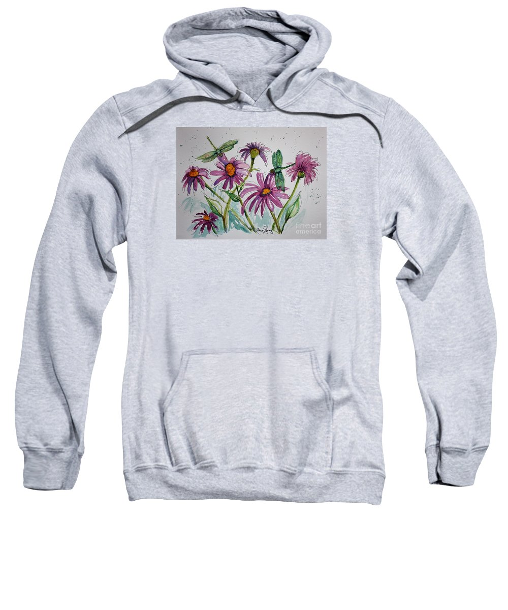 Flowers Sweatshirt featuring the painting Dinner For Two by Marcia Breznay