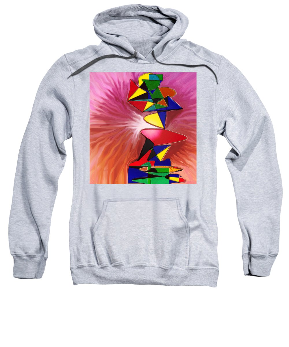 Abstract Sweatshirt featuring the digital art Disintegration by Ian MacDonald