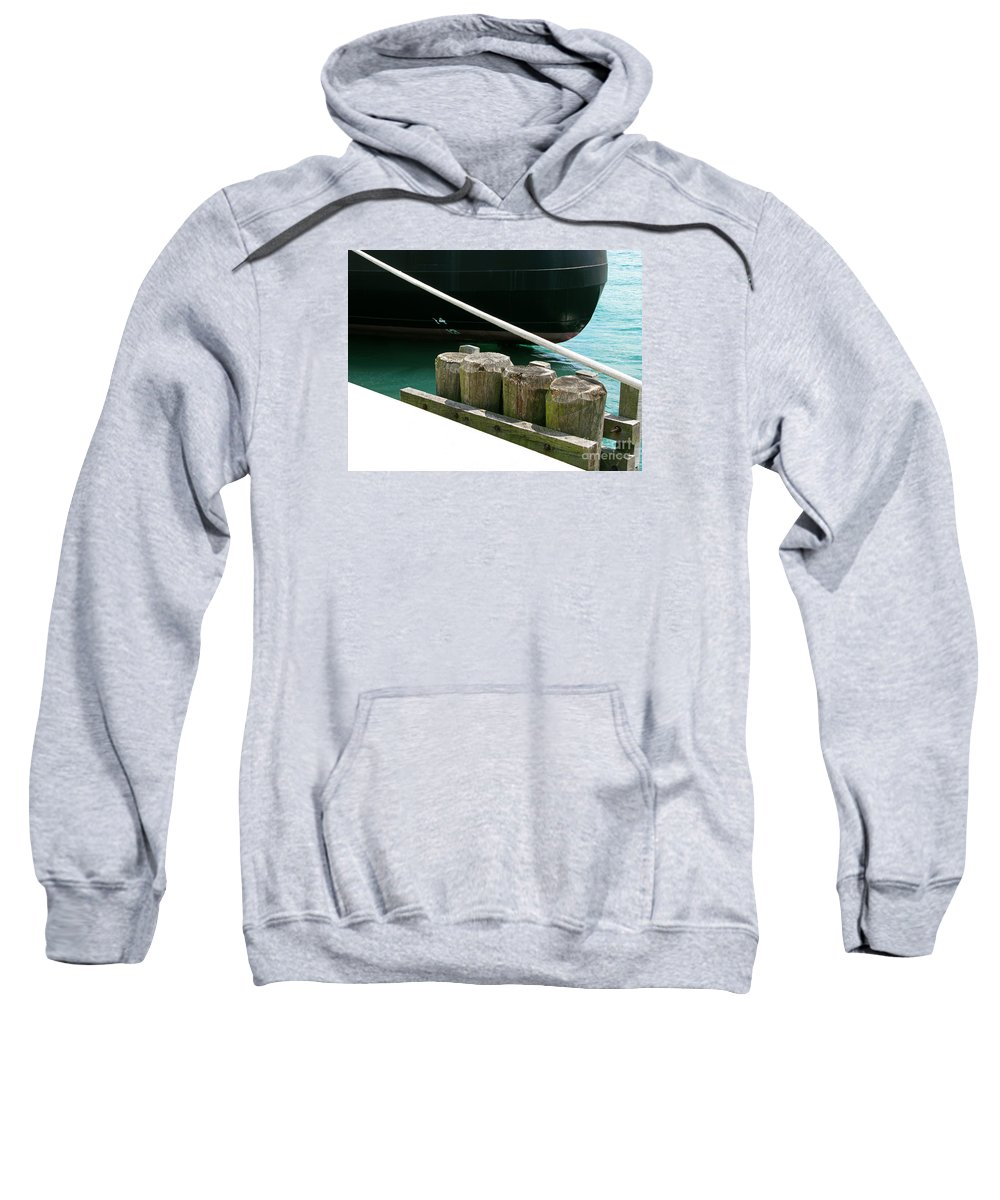 Ship Sweatshirt featuring the photograph Docked by Ann Horn