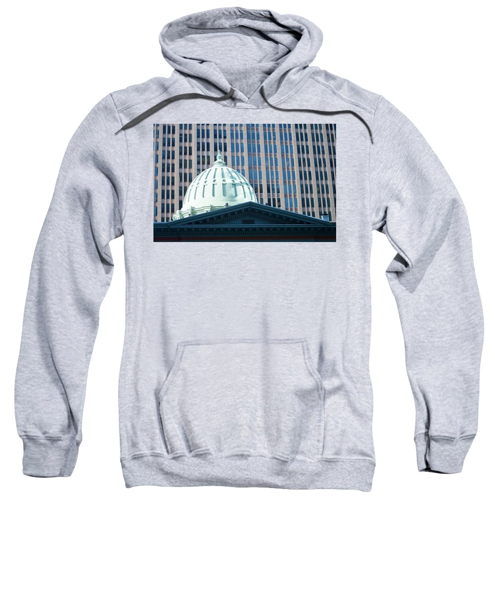 Dome Of Art Museum Sweatshirt featuring the photograph Dome Of Art Museum by Sonali Gangane