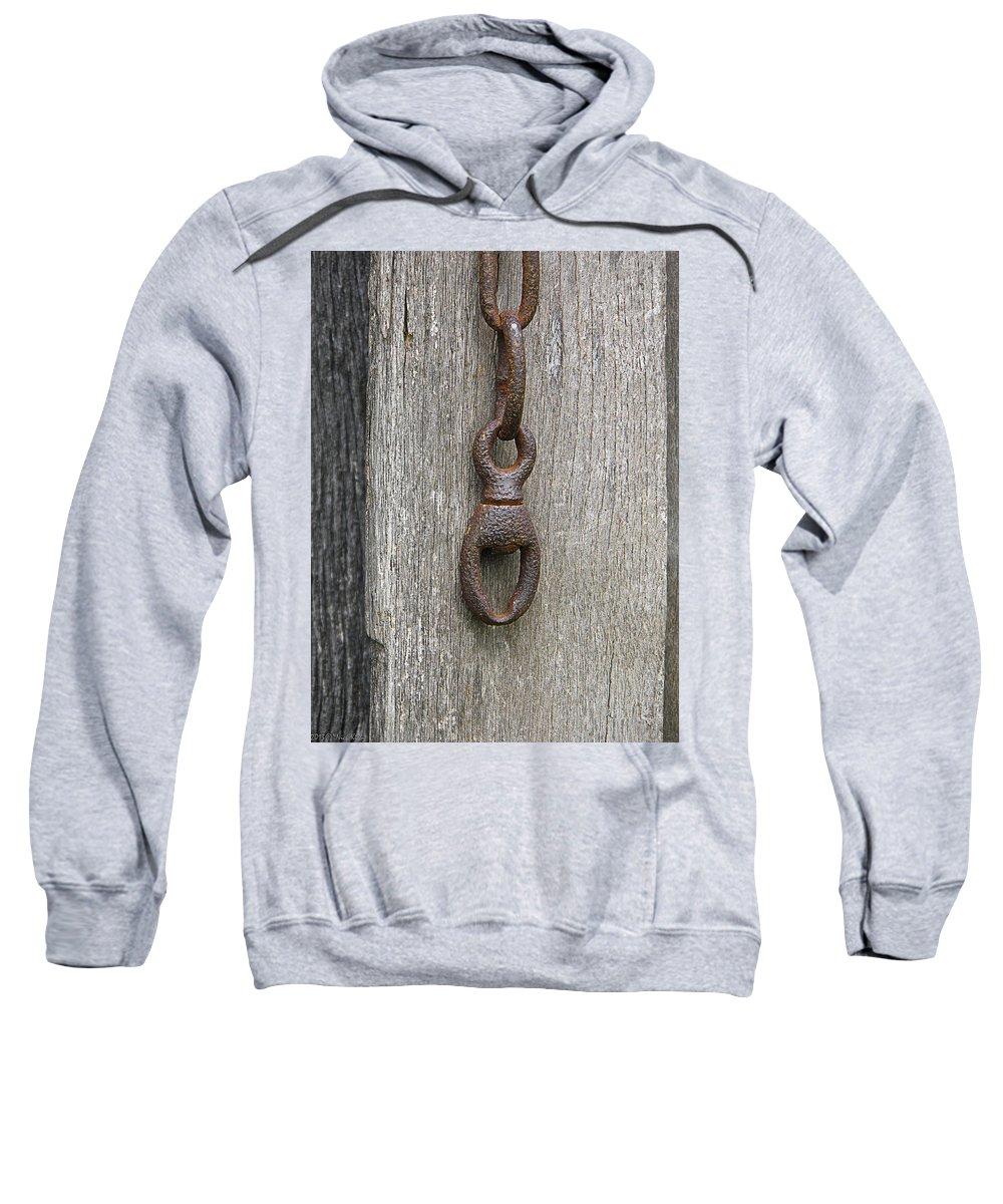 Door Sweatshirt featuring the photograph Door Chain In Color by Nick Kirby