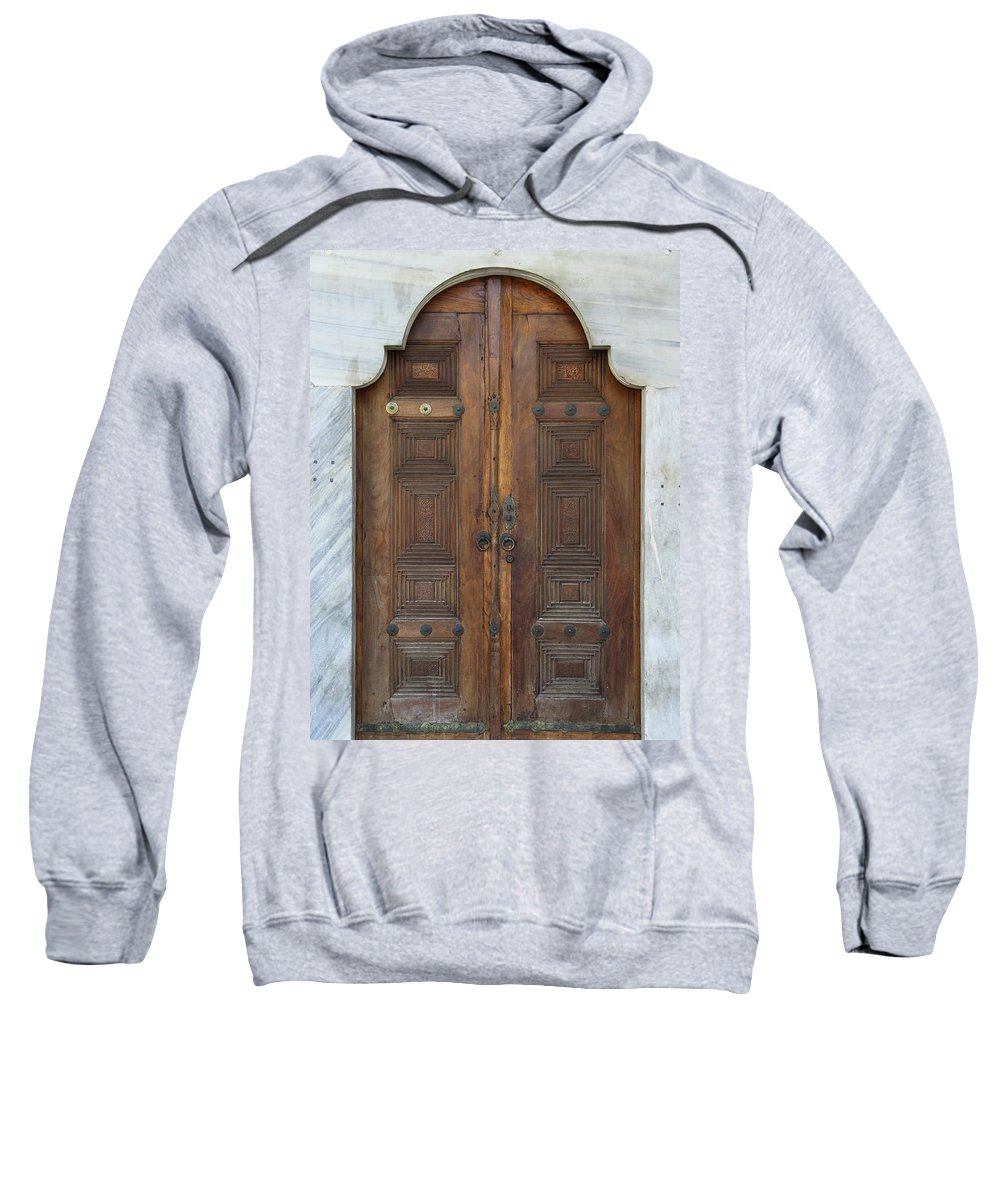 Door Sweatshirt featuring the photograph Door Of The Topkapi Palace - Istanbul by Christiane Schulze Art And Photography