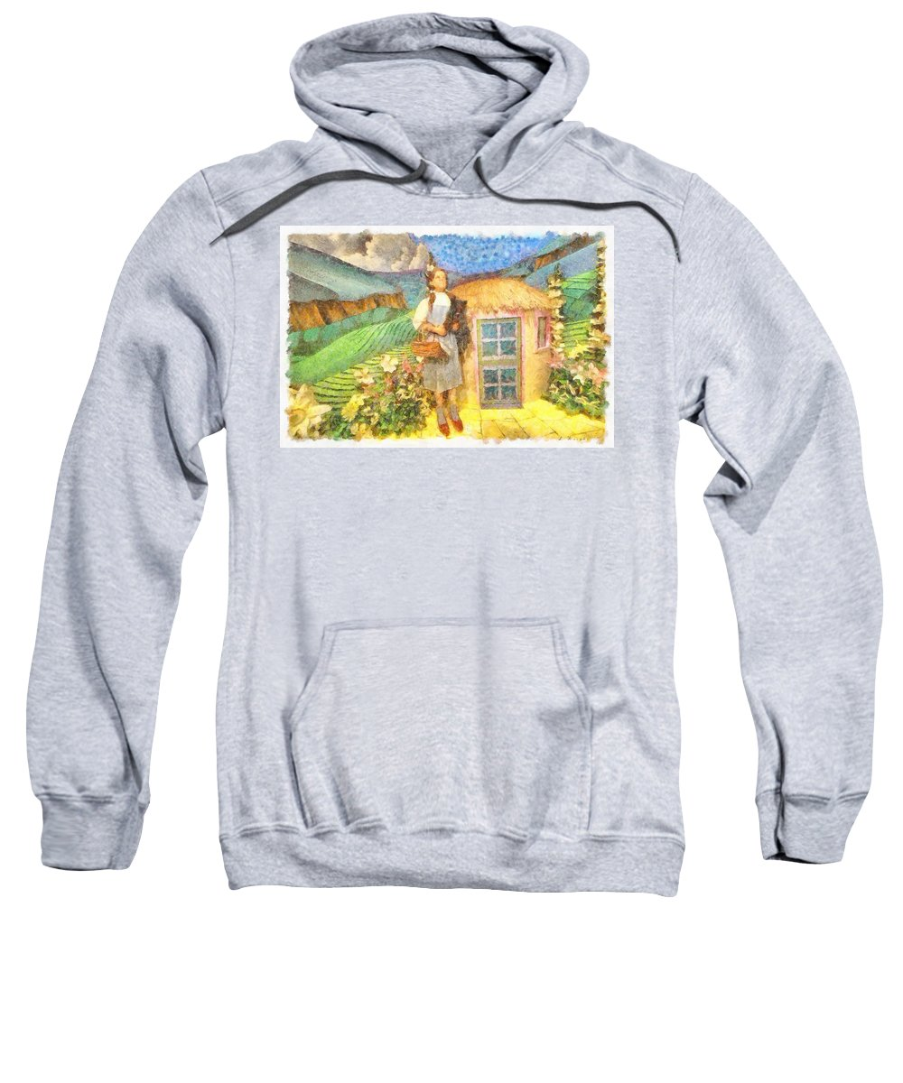 Dorothy And Toto Sweatshirt featuring the painting Dorothy And Toto by L Wright