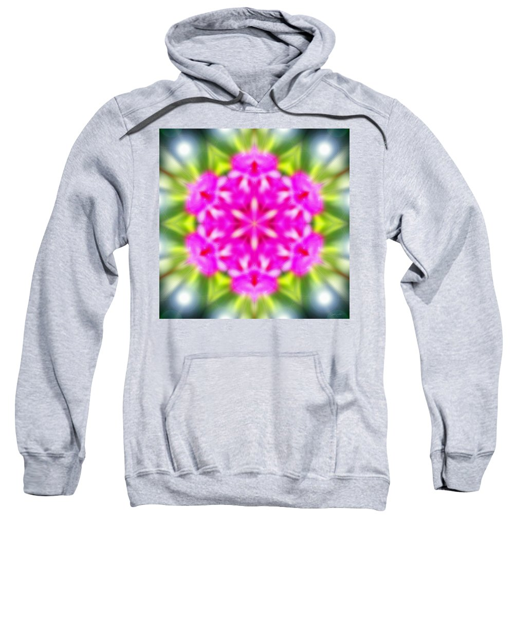 Sacredlife Mandalas Sweatshirt featuring the photograph Double Vision by Derek Gedney