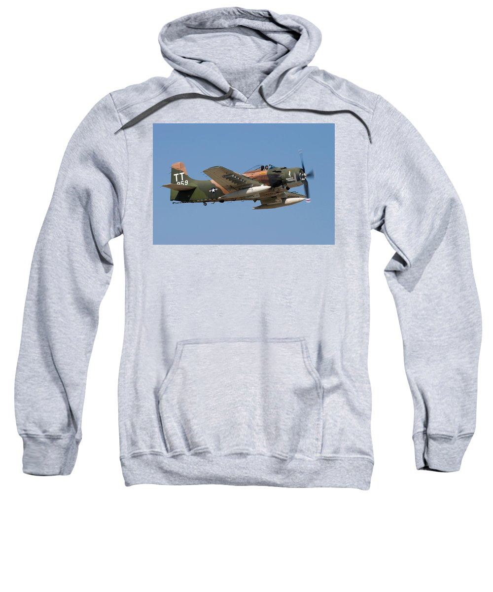 3scape Sweatshirt featuring the photograph Douglas Ad-4 Skyraider by Adam Romanowicz
