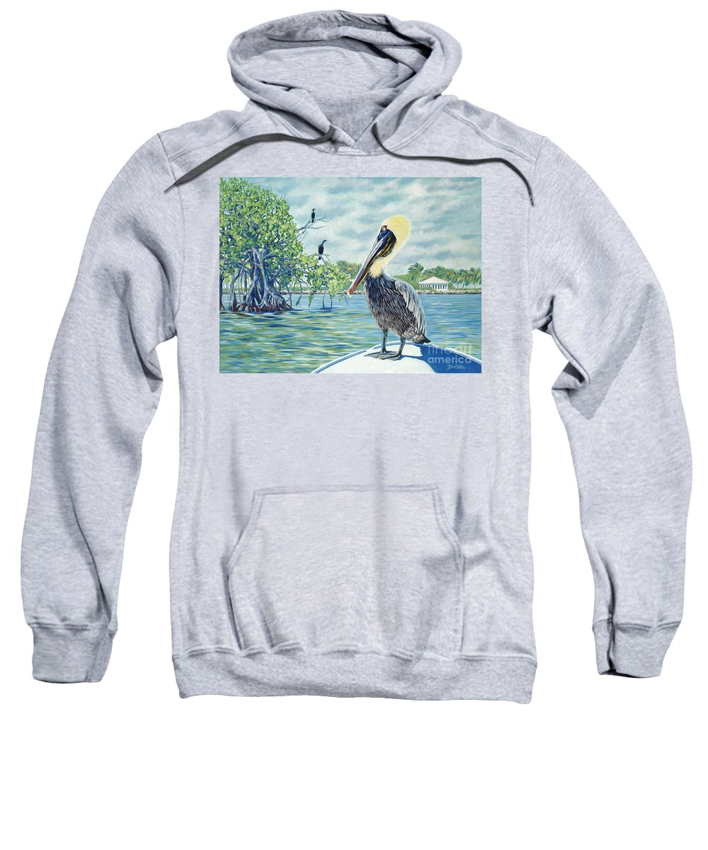 Key Largo Sweatshirt featuring the painting Down In The Keys by Danielle Perry