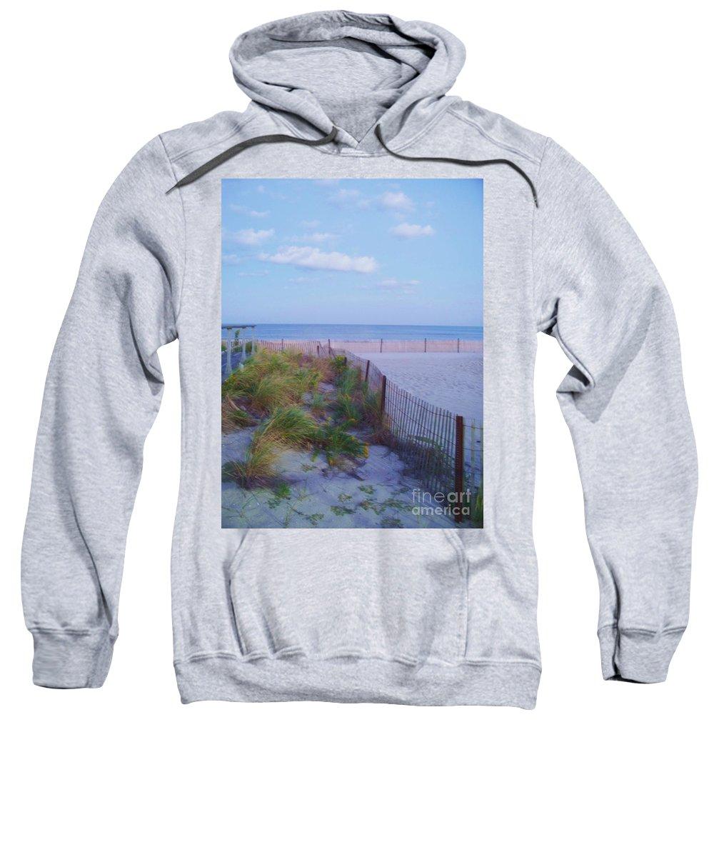 Ocean Sweatshirt featuring the photograph Down The Shore At Belmar Nj by Eric Schiabor