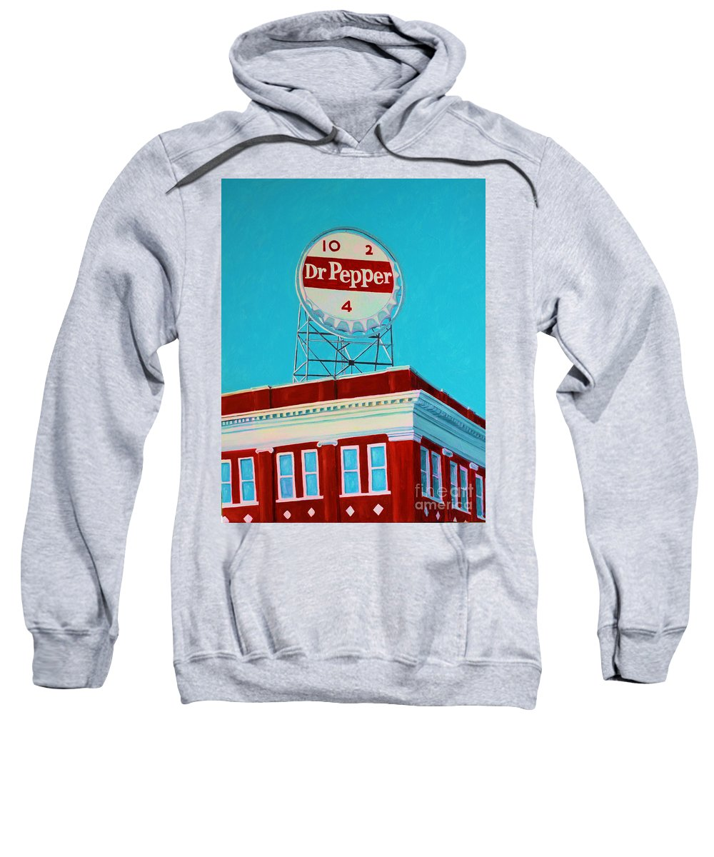 Dr. Pepper Sign Sweatshirt featuring the painting Dr Pepper Sign Roanoke Virginia by Todd Bandy