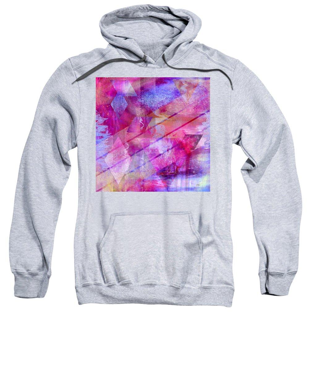 Dragon's Kiss Sweatshirt featuring the digital art Dragon's Kiss - Square Version by John Beck