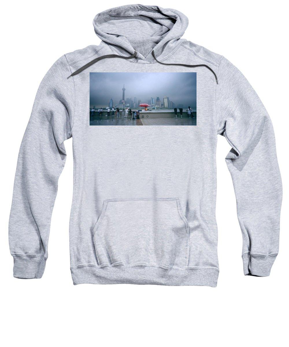 Shanghai Skyline Sweatshirt featuring the photograph Dramatic Shanghai by Shaun Higson