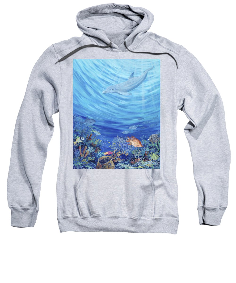 Florida Sweatshirt featuring the painting Dream Reef by Danielle Perry