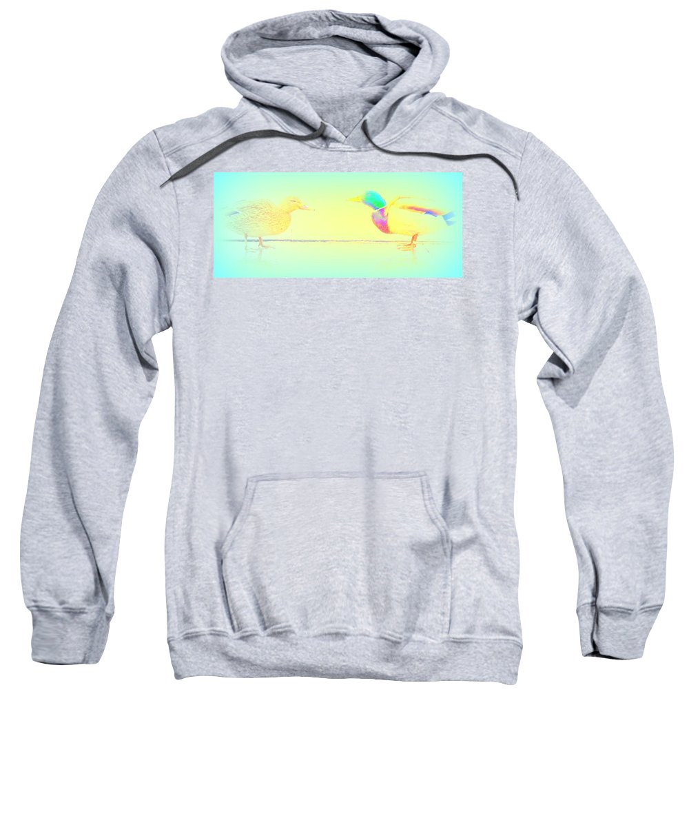 Bird Sweatshirt featuring the photograph still I'm dreaming about you now and then by Hilde Widerberg