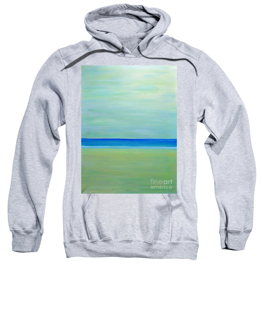 Beach Front Sweatshirt featuring the painting Dreamy by Milton Tarver