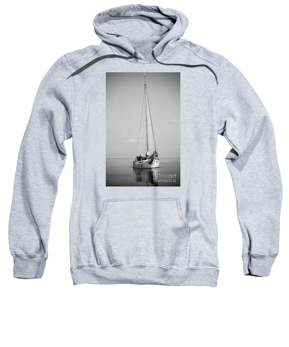 Maritime Sweatshirt featuring the photograph Dredger by Skip Willits