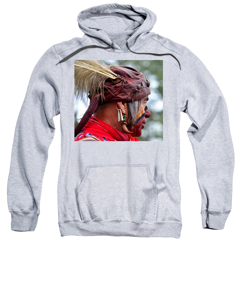 Seminole Indian Sweatshirt featuring the photograph Dressed For Battle by David Lee Thompson
