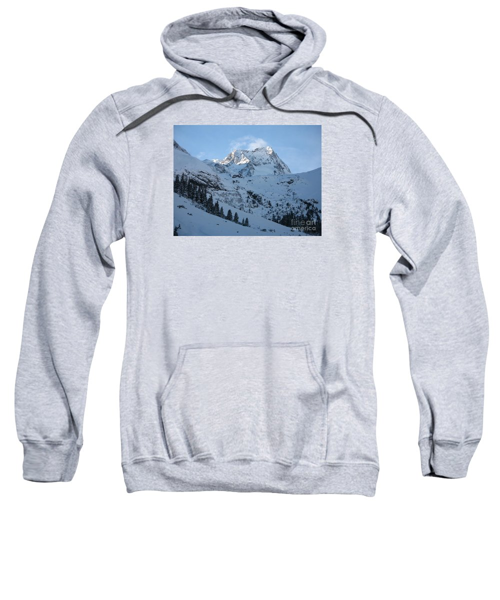 Snow Sweatshirt featuring the photograph Drifting Snow by Christiane Schulze Art And Photography