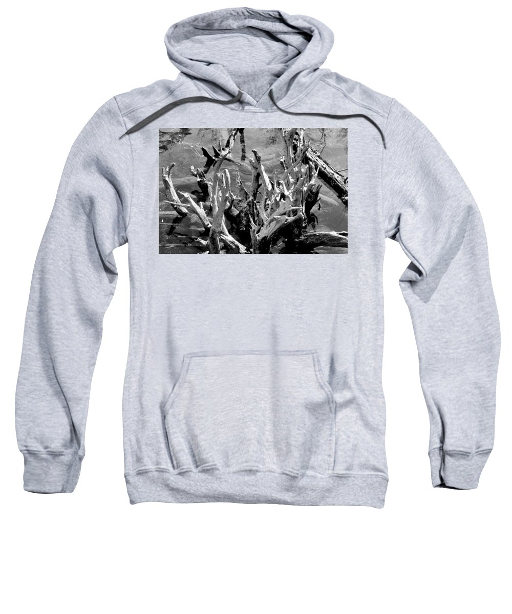 Reflection Sweatshirt featuring the photograph Driftwood On Lost Lake by Michelle Calkins