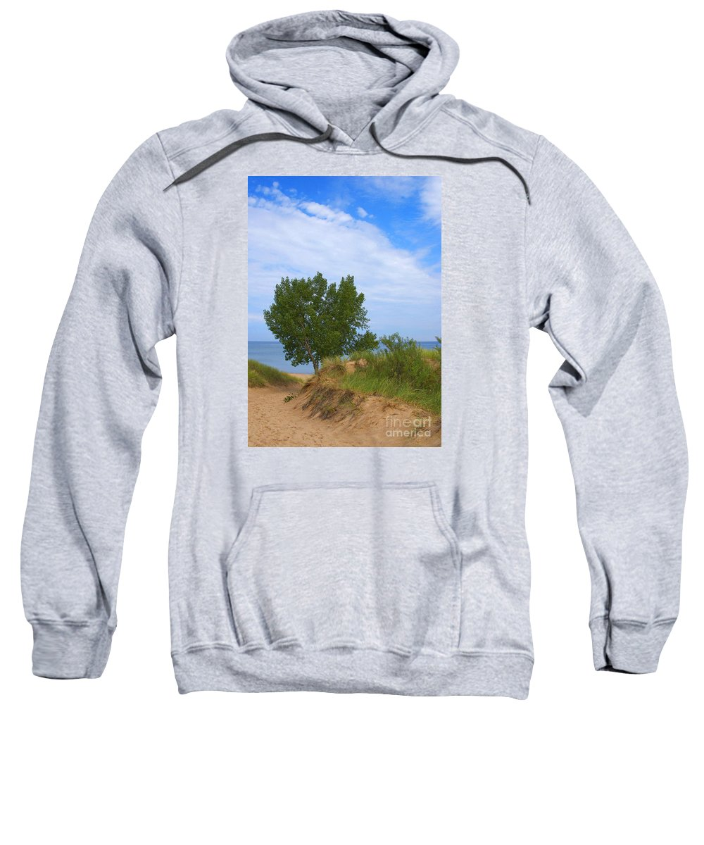 Dune Sweatshirt featuring the photograph Dune - Indiana Lakeshore by Ann Horn