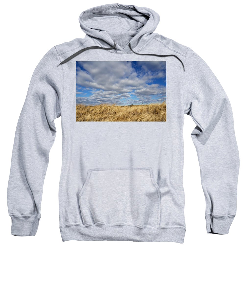 Clouds Sweatshirt featuring the photograph Dune Grass And Sky by Allan Morrison