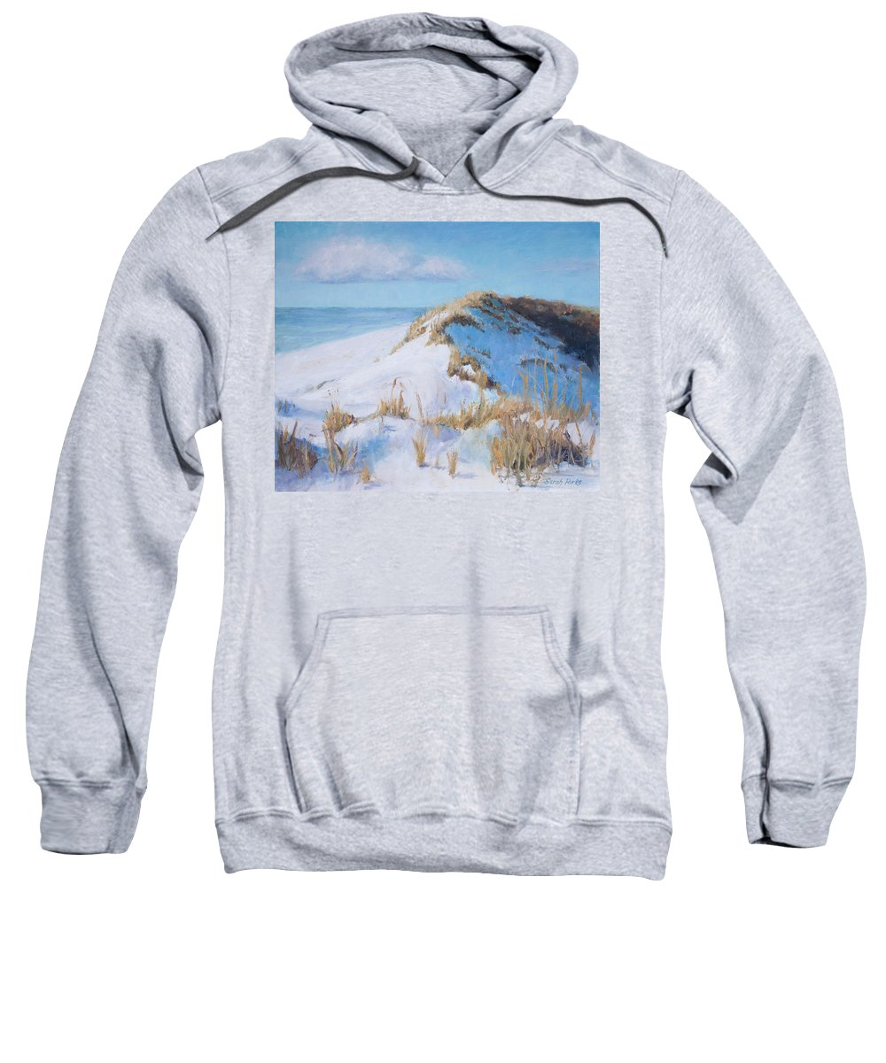 Beach Sweatshirt featuring the painting Dune Shadows by Sarah Parks
