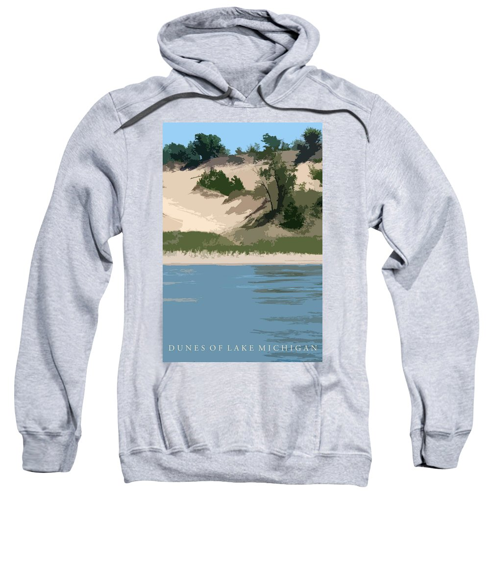 Dunes Sweatshirt featuring the photograph Dunes Of Lake Michigan by Michelle Calkins
